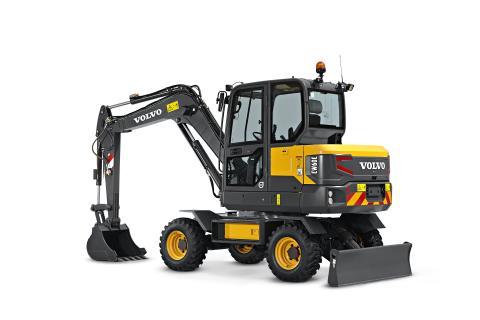 Volvo EW60E grävmaskin - studiobild