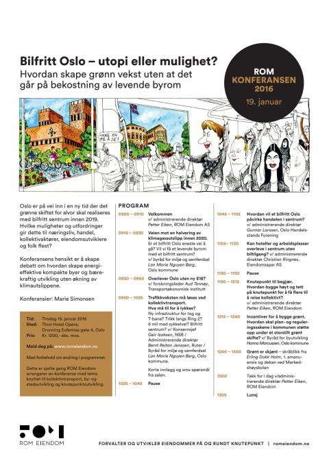 Program ROM-konferansen 19. januar 2016