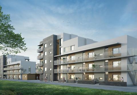 Midroc startar försäljningen av ytterligare 69 bostäder i Bulltofta, Friluftsstad