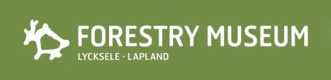 Skogsmuséet Lycksele - Grön logo liggande