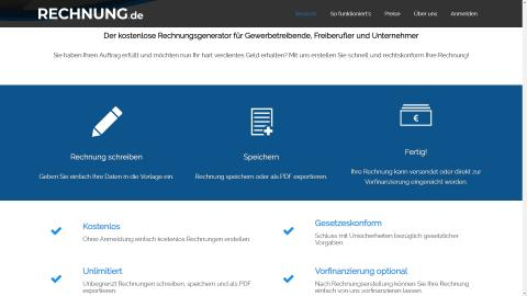 """Für Gewerbetreibende, Freiberufler und Unternehmer:  RECHNUNG.de launcht kostenlosen Rechnungsgenerator mit """"Blitzgeld""""-Funktion"""