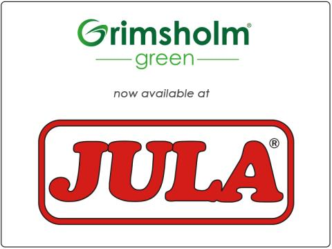 Grimsholm Green now launched at the Swedish retail chain JULA