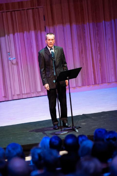 Pro rektor Erik höglund inviger Orgel Acusticum vid Luleå tekniska universitet