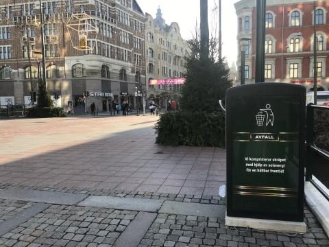 Malmö får nya moderna papperskorgar från Bigbelly
