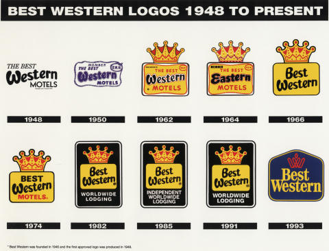 Best Westerns alla logos sedan 1948