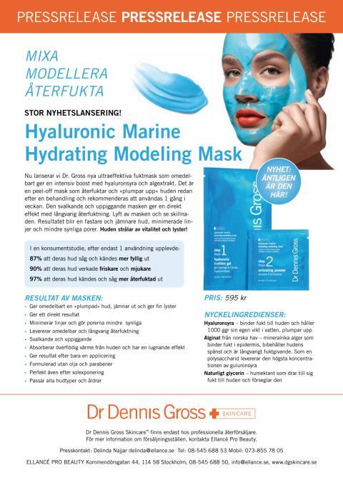 Dr Dennis Gross Skincare Hyaluronic Marine Hydrating Modeling Mask Pressrelease