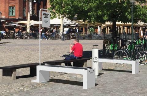 Välkommen på invigning av Sveriges första fimpzoner