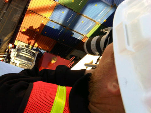 Box magic - Filming Cavotec on the APL Singapore at the Port of Oakland #Cavotecfilm