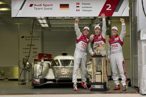 Audi tog sin tionde triumf i 24 Heures Le Mans