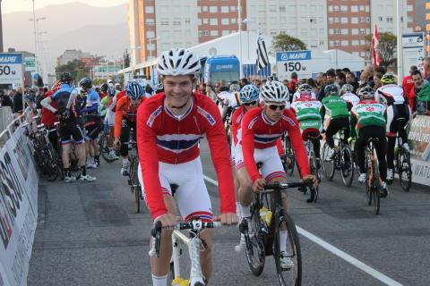 Syver Wærsted før start sykkel-VM 2014