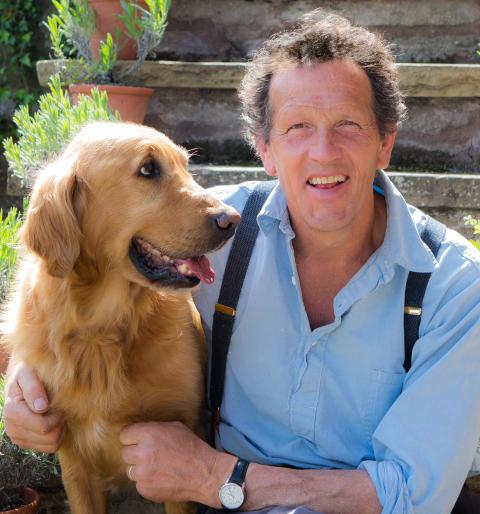 Monty Don och hunden Nigel
