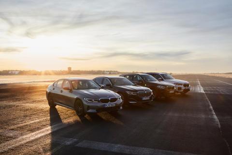 BMW 330e, BMW 745Le, BMW X3 30e og BMW X5 45e