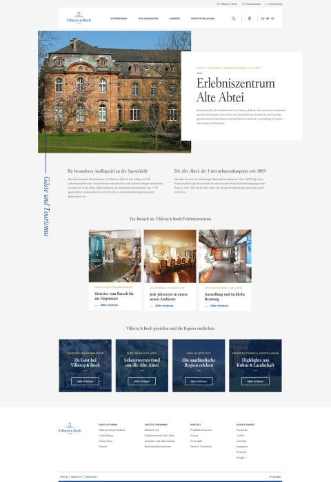 Corporate Website Erlebniszentrum