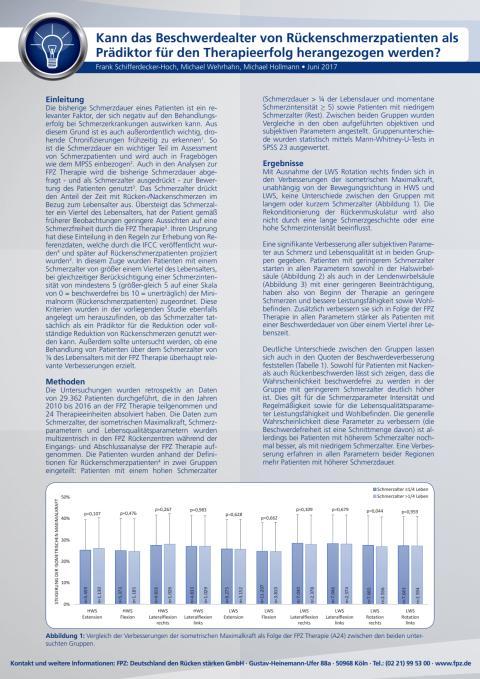"""Handout zur FPZ Studie """"Einfluss des Schmerzalters auf den Behandlungserfolg"""""""