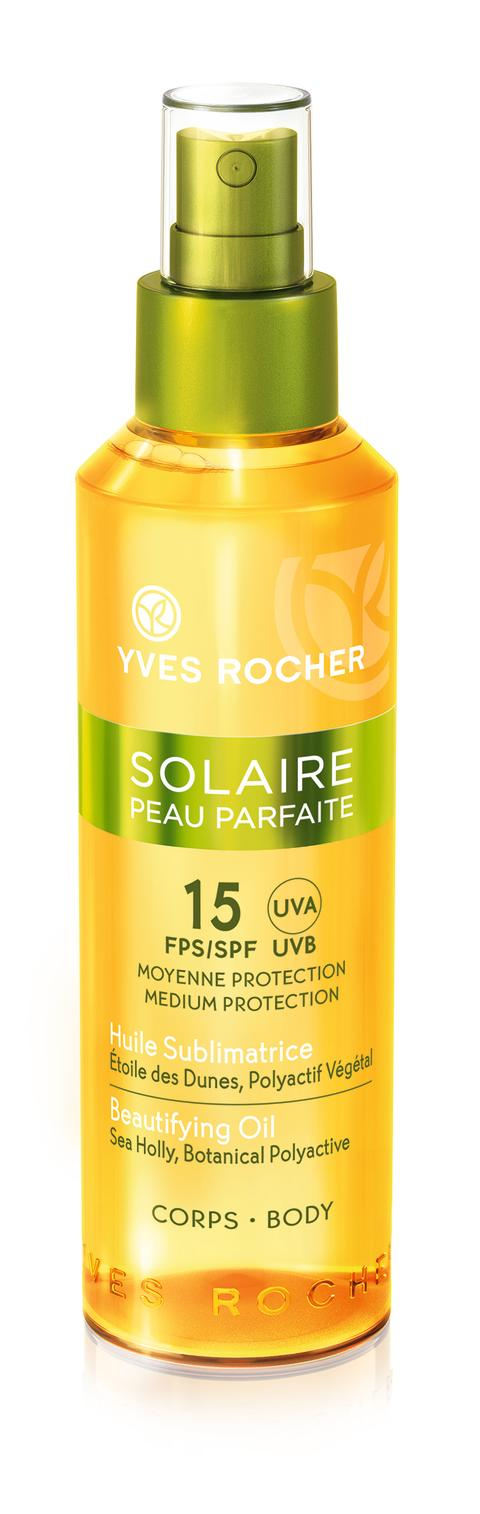 Solaire Peau Parfaite Beautifying Oil – Medelhögt skydd SPF 15