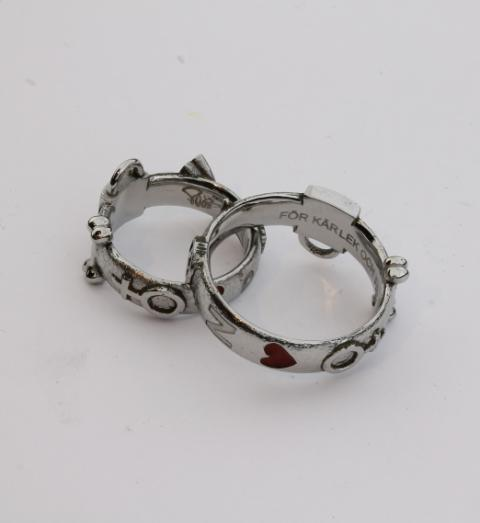 Unique wedding rings made of Humanium Metal by IM