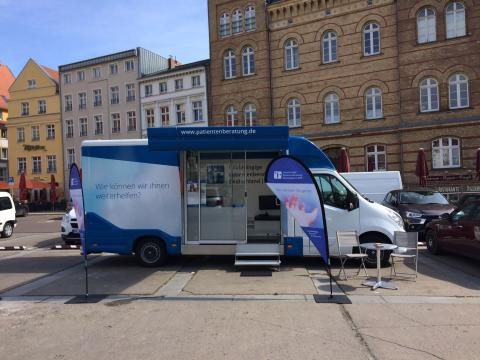 Beratungsmobil der Unabhängigen Patientenberatung kommt am 26. September nach Stralsund.
