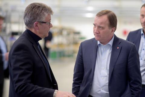Statsministern imponerad efter besök hos vår kund Racoon