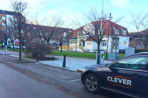 CLEVER erbjuder laddning för elbilar i Åstorp