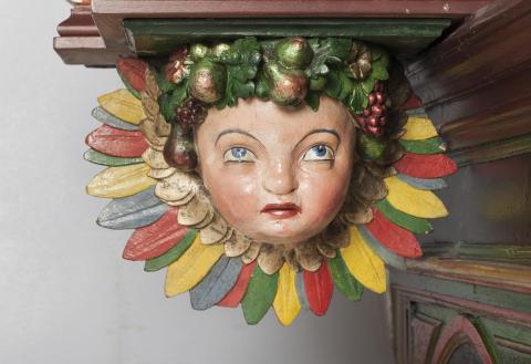 Billede 4: Detalje fra Gimsing kirkes altertavle
