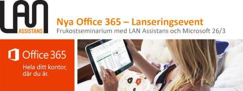 Nya Office 365 – Lanseringsevent