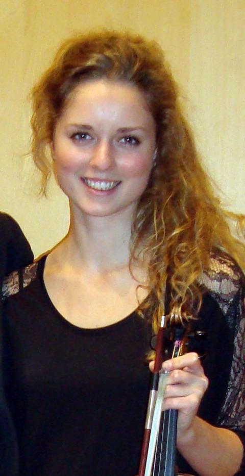 Charlotta Grahn Wetter, violinist och masterstudent vid Kungl. Musikhögskolan. Foto: Maria Grahn.