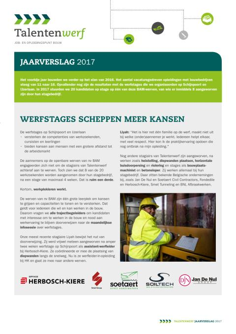 Talentenwerf in 2017   Topjaar op weg naar Oosterweelverbinding
