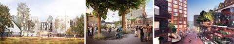Förslag på ny handel och bostäder vid Mårtenstorget