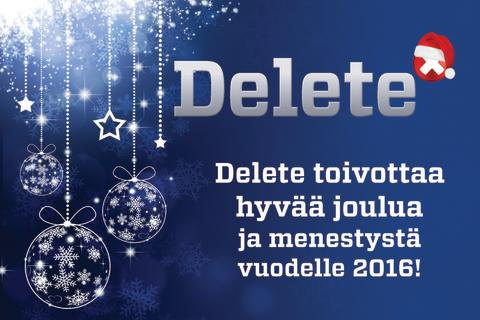 Jouluntoivotus Deletestä - olemme apunasi pyhinä 24 h numerossa 010 656 1000