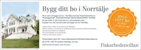 Husbyggarkväll i Norrtälje