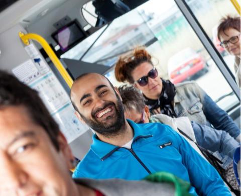Nöjda kunder på Grön Express