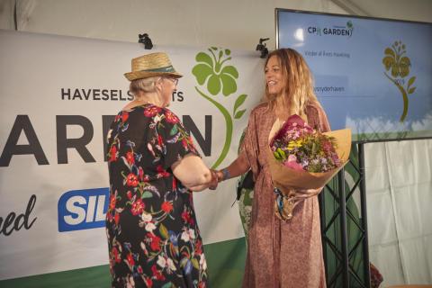 Maria Maiken Lundvald (Livsnyderhaven) vandt award til årets haveblog