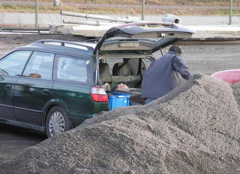 Kommunen ger gratis sand till fastighetsägare