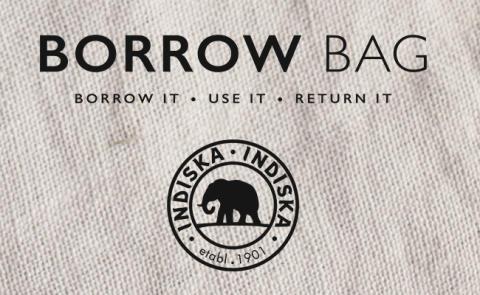 Indiska tar hållbar konsumtion till nya nivåer – Borrow Bag ska väcka kunders hållbarhetstänk