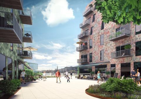 Visionsbild för Lindholmshamnen