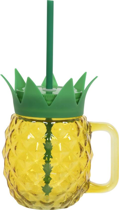 Nille - ananasbeger med sugerør