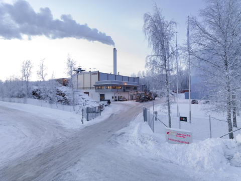 Kall vinterbild värmeverket
