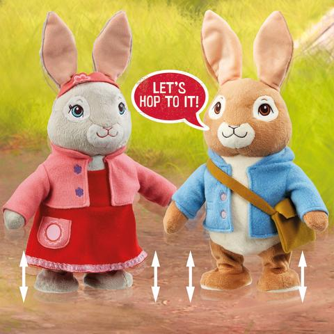 Rainbow Designs - Talking and Hopping Peter Rabbit and Lily Bobtail