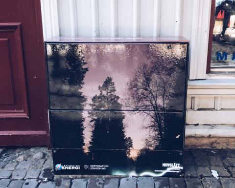 Pressinbjudan: Succén fortsätter! Inspireras av 12 nya lokala bilder på elskåpen i centrala Jönköping.
