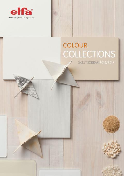 Elfa Colour Collections, skjutdörrar 2016/2017