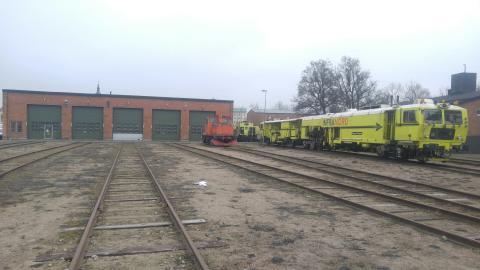 Rälsbussverkstaden i Kristianstad är en av fastigheter som Riksbyggen sköter och underhåller åt Trafikverket