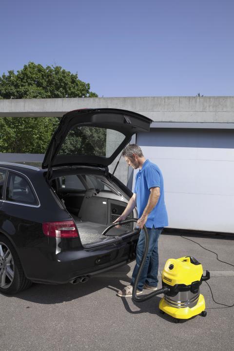 Kärcher grovstøvsuger for rengjøring i bil