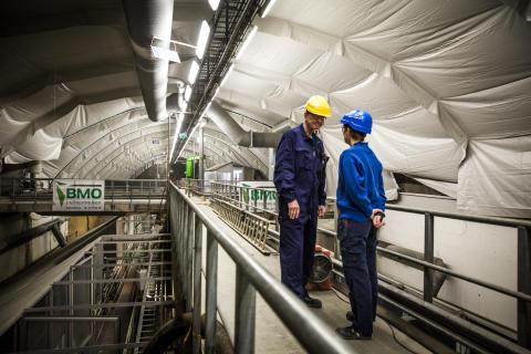 En av seks prosesshaller på VEAS-anlegget