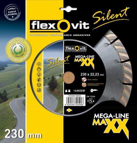 Mega-Line MaXX Silent: Ljuddämpad diamantklinga från Flexovit - Förpackning