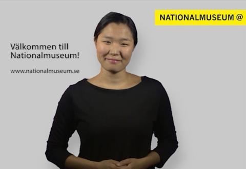 Nationalmuseum lanserar filmer på teckenspråk