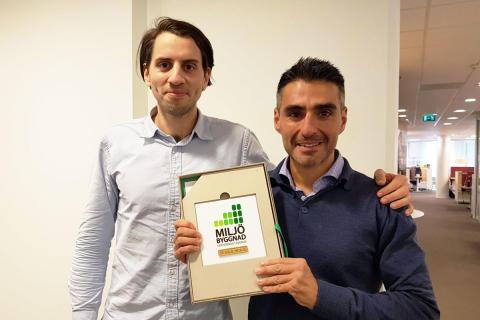"""Einar Mattsson-projekt i miljöstadsdelen Norra Djurgårdsstaden fick """"Miljöbyggnad Guld""""-certifiering"""