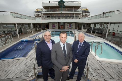 Fred. Olsen Cruise Lines' 'Black Watch' welcomes VIPs in Rosyth