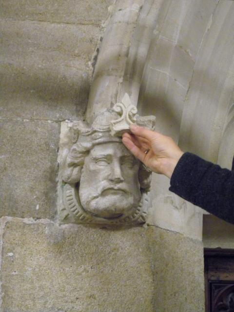 Beautiful Carved Head in Rochdale Town Hall