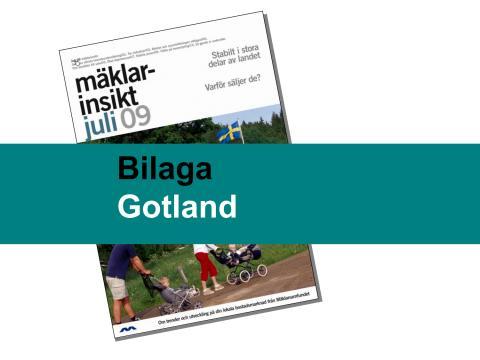 Gotlands län: Stabil bostadsmarknad på Gotland