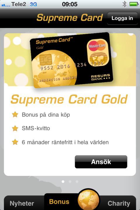 Resurs Bank lanserar Supreme Card-applikation för iPhone - Resurs Bank